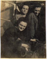 Image: Livia, Cibi and Magda Meller. Early post-war, newly arrived in Israel.